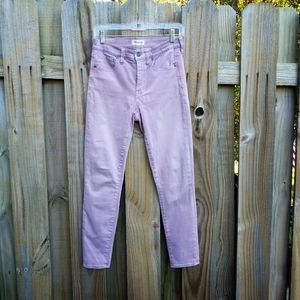Madewell dusty rose skinny crop high rise jeans